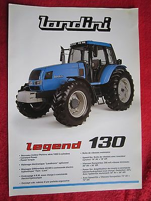 Vintage Landini Legend 130 Tractor Brochure In French