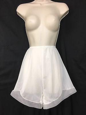 Vintage Van Raalte Panties 7 Large Nylon Sheer Granny High Waist Off White (P1)