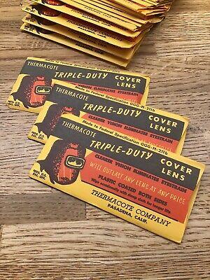 3 Pieces- Vintage Thermocote Triple-duty Cover Lens Welding - Pasadena Ca - F2