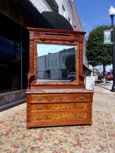 Outstanding Eastlake Walnut Victorian Dresser 1890s