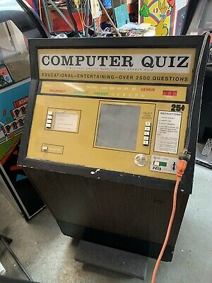 Nutting Computer Quiz Arcade Machine Rare