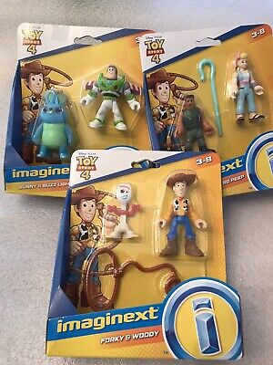 Disney Pixar Toy Story 4 Imaginext Mini Figures Lot of 6 (Three 2-Packs) * NEW *