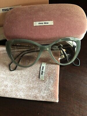 Brand New Miu Miu Sunglasses OMU 12RS CatEye Green