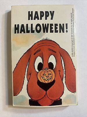 Clifford The Big Red Dog - Happy Halloween 1991 Scholastic Vintage Cards Booklet