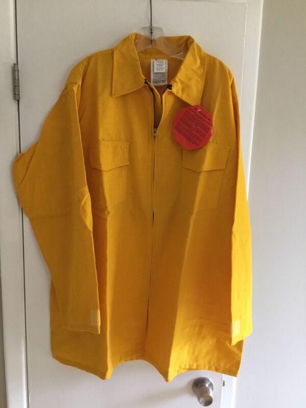NEW 6 OZ Nomex IIIA FR Wildland Fire Fighting Brush Shirt Yellow Size Is 3XL NEW