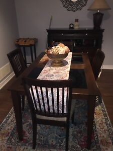 Full dining table set with chairs