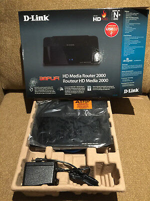 D-Link HD Media Router 2000 300 Mbps 4-Port Gigabit Wireless N Router (DIR-827), used for sale  Kelowna