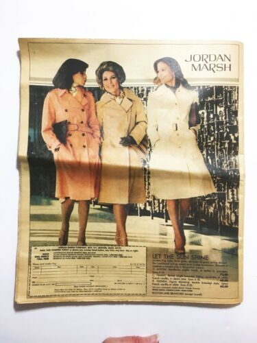 Vintage 1976 Jordan Marsh Ad For London Fog Rain Coats w/ Mail or Call in Coupon