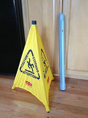 Rubbermaid 9s01 30 Pop-up Safety Cone W Caution Wet Floor Symbol Imprint