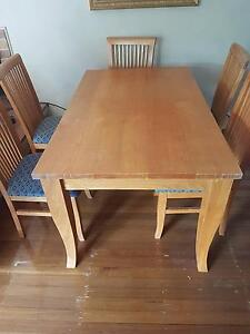 Dinning table with 6 chairs Denistone Ryde Area Preview