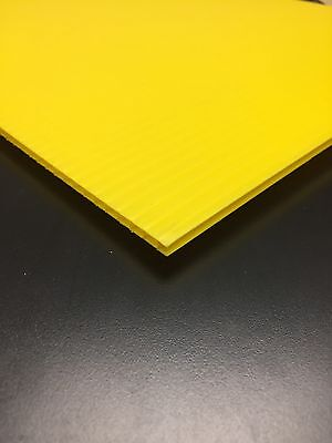 4mm Yellow 24 X 36 4 Pack Corrugated Plastic Coroplast Sheets Sign