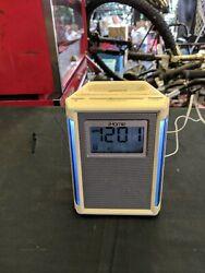 iHOME IP40 iPod iPhone AM/FM Radio Alarm Clock Speaker Dock White A1