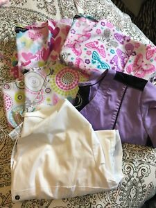 Assorted Scrub Tops Size Lg and XL labcoat
