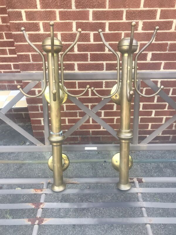Antique Brass Barber Shop Coat Hangers
