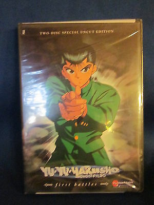 Yu Yu Hakusho Ghost Files First Battles Two Disc Special Uncut DVD Sealed