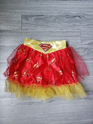 Super Woman Girls Tutu Skirt Halloween Costume Dress Up DC Superheroes - Superwoman Tutu