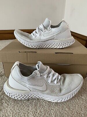 Nike Epic React Flyknit - Pure White - UK Size 6.5 But Fits A Size 6 Or Size 5.5