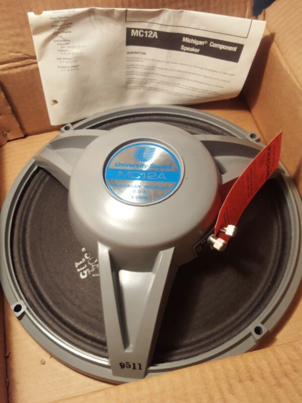 2 University Sound MC12 A 12in 8 Ohm 20 Watts Ceiling Or Wall Full Range...