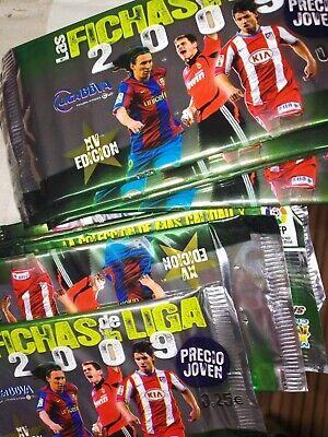 caja de 50 sobres de cromos sin abrir fichas liga mundicromo 2009...