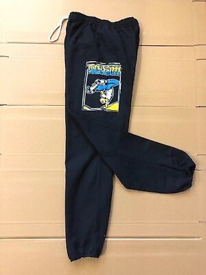 SCRAM SKATES - FEJJ SWEATPANT BOTTOMS BLACK - S M L - SKATEBOARD PUNK 80S (80s Punk Style Clothing)