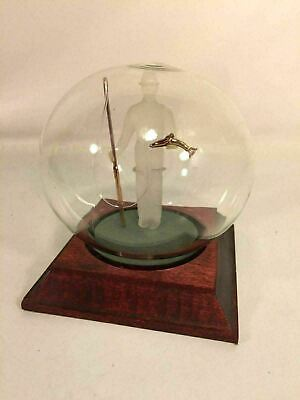 MayFlower Glass Globe Fly Fishing Trout Fisherman Rod Artistic Frosted Glassware