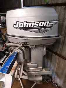 2000 Johnson 25 hp tiller steer Mallala Mallala Area Preview
