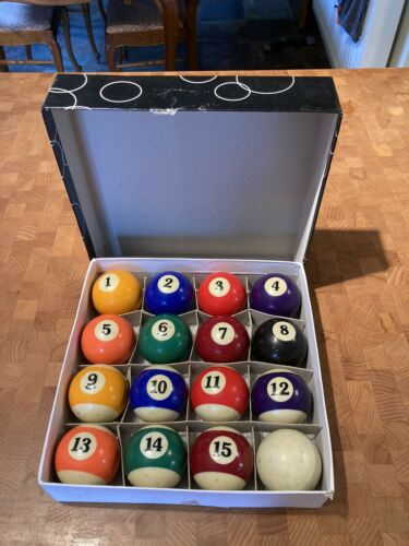 Spots and stripes pool balls 2inch