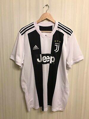 Juventus 2018/2019 home Sz XL Adidas shirt jersey soccer football maillot CF3489 image