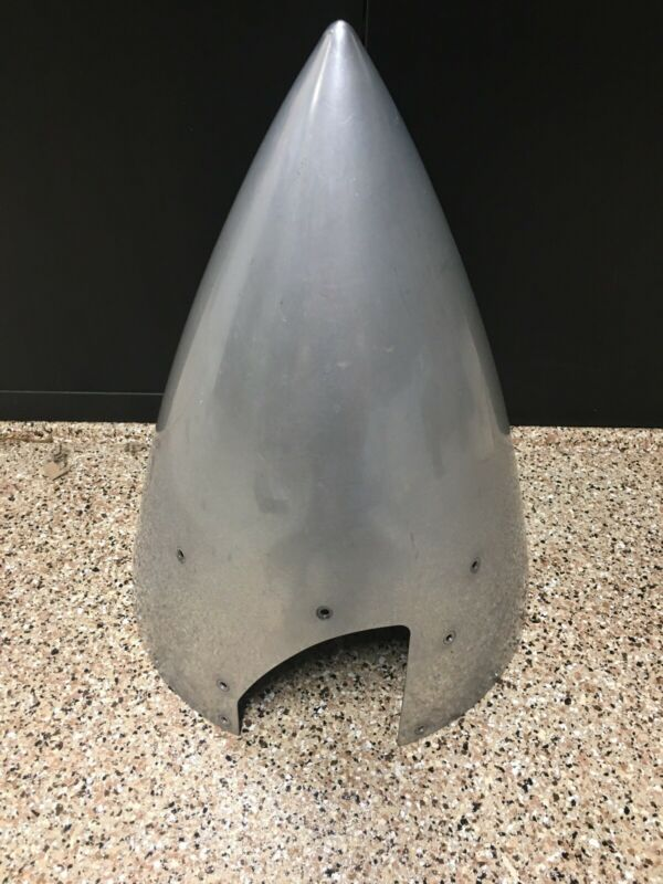 Vintage Metal Aircraft Airplane Nose Cone Cap, Aces Systems