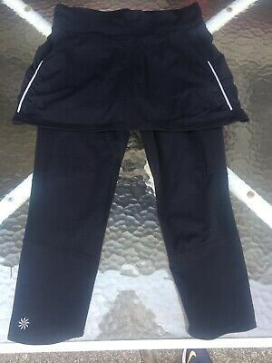 Black Skirt with Attached Leggings Size Small Modest Exercise Work Out - Leggings With Attached Skirt
