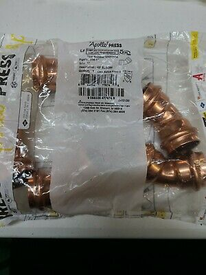 Pack Of 5 Apollo Press 1 In. Copper Press 45 Elbow 10077674