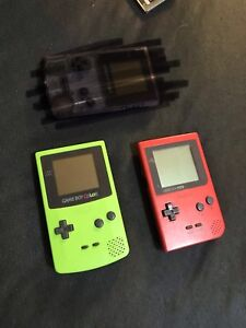 Gameboys with games and accessories