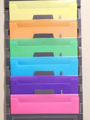 Wall Organizer File Pocket Storage Cascading Portable Colored Durable Hanging