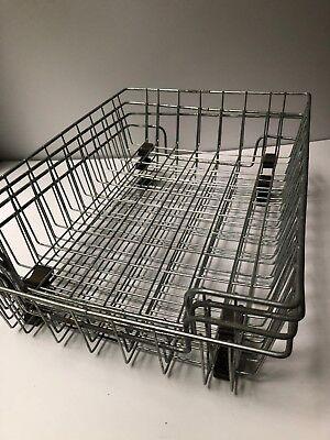 4 Vintage Industrial Metal Wire Desk Basket Tray Organizer Letter Holder Office