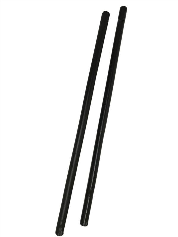 Pair BLACK Rattan Escrima Kali Arnis Fighting Sticks Set Handcrafted demo SALE!