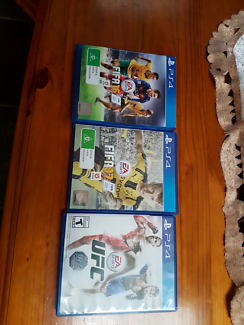 FIFA 16 & 17 PLUS UFC PS4 LIKE NEW!