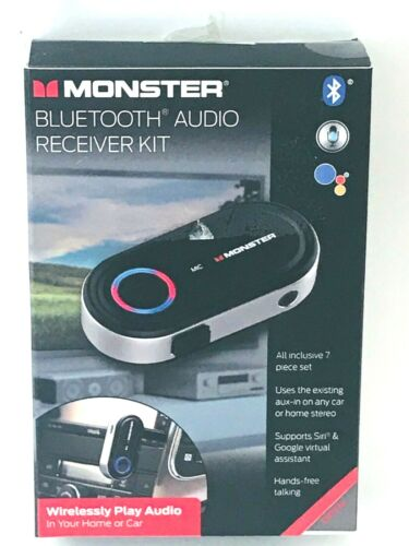 Monster Bluetooth Audio Receiver, Supports Google/Siri, Stream Music In Your Car