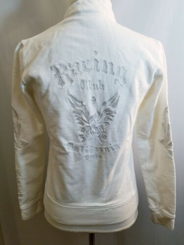 Купить Bogner - BOGNER Womens Full ZIP Jacket EMBROIDERED White California racing club SZ S