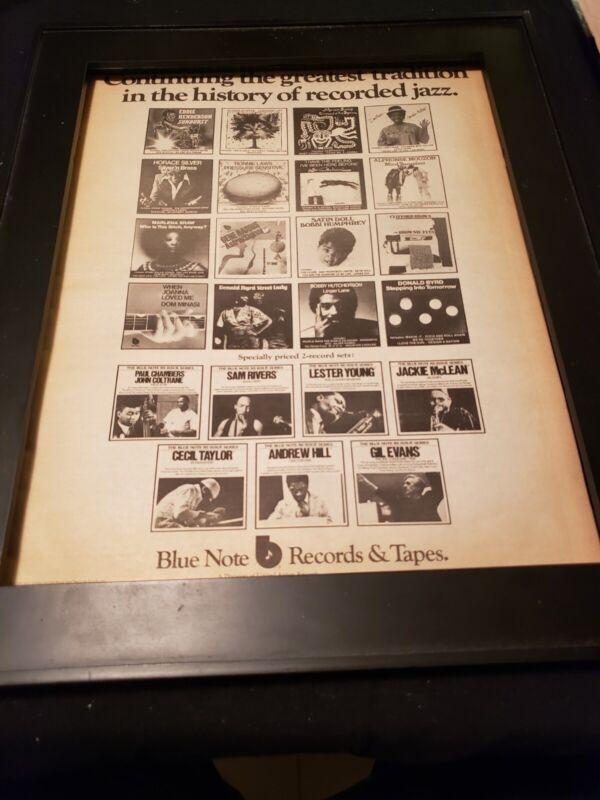 Blue Note Records Rare Original 1975 Promo Poster Ad Framed! #2