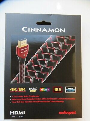"""Audioquest Cinnamon HDMI Cable, 6'7"""" (2M) 4K/8K  NEW for sale  Shipping to India"""