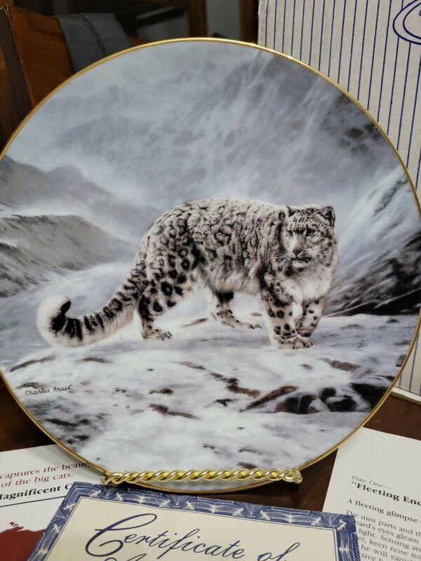 "Decorative Plate ""Fleeting Encounter"" 1991 By Charles Fraće"
