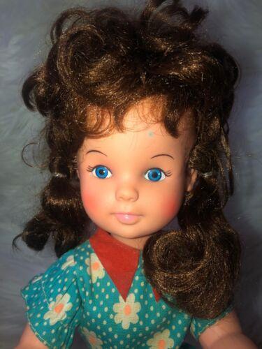 Vintage 14 Playmates Doll Brunette Blue Eyes  - $5.99