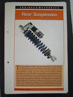 engine & mechanics REAR SUSPENSION collector file fact sheet.