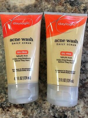 2-Daylogic Acne Wash Daily Scrubs, Oil-Free, Salicylic Acid Exp 03/18 Or