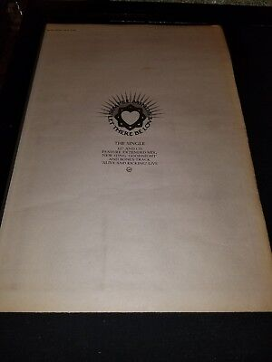 Simple Minds Let There Be Love Rare Original UK Promo Poster Ad Framed!