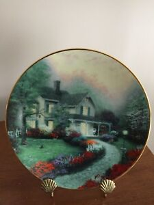FOR SALE: THOMAS KINKADE PLATE 'HOME SWEET HOME'