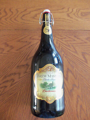 "Budweiser Brew Masters 2007 Private Reserve Empty Bottle 14.5 Ounce 14 1/2"" X 4"