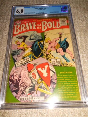 1955 DC The Brave and the Bold #1 CGC 6.0 White Pages 1st Viking Prince