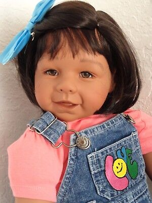 "Reborn 22"" Ethnic/Hispanic/Indian/AA toddler girl doll ""Zoe Faith Club Kid! for sale  New Port Richey"