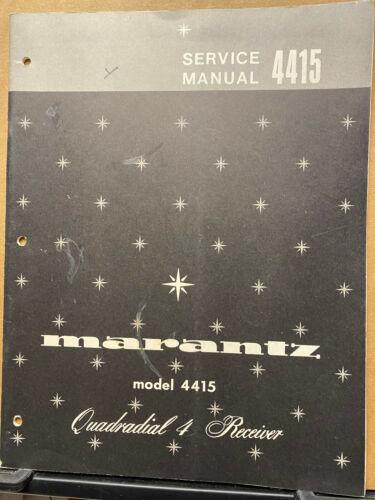 Original Service Manual for the Marantz 4415 Receiver ~ Repair